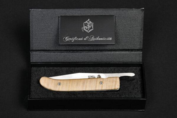 Coffret Powell - Couteau de poche piémontais en érable